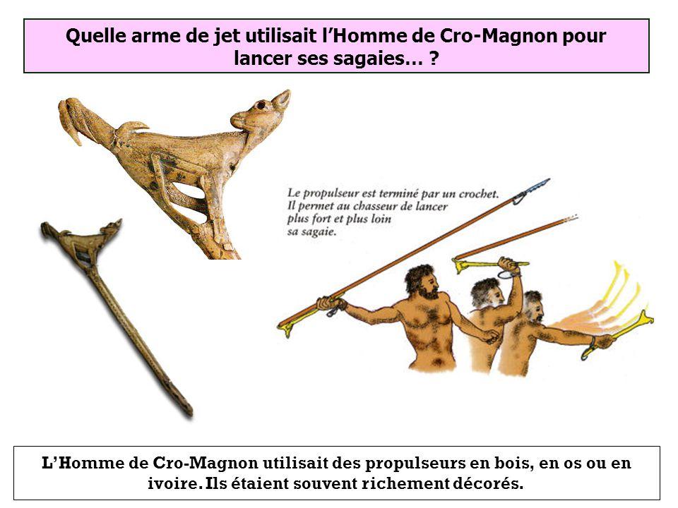 Propulseur Arc Fusil Quelle arme de jet utilisait lHomme de Cro-Magnon pour lancer ses sagaies… ?