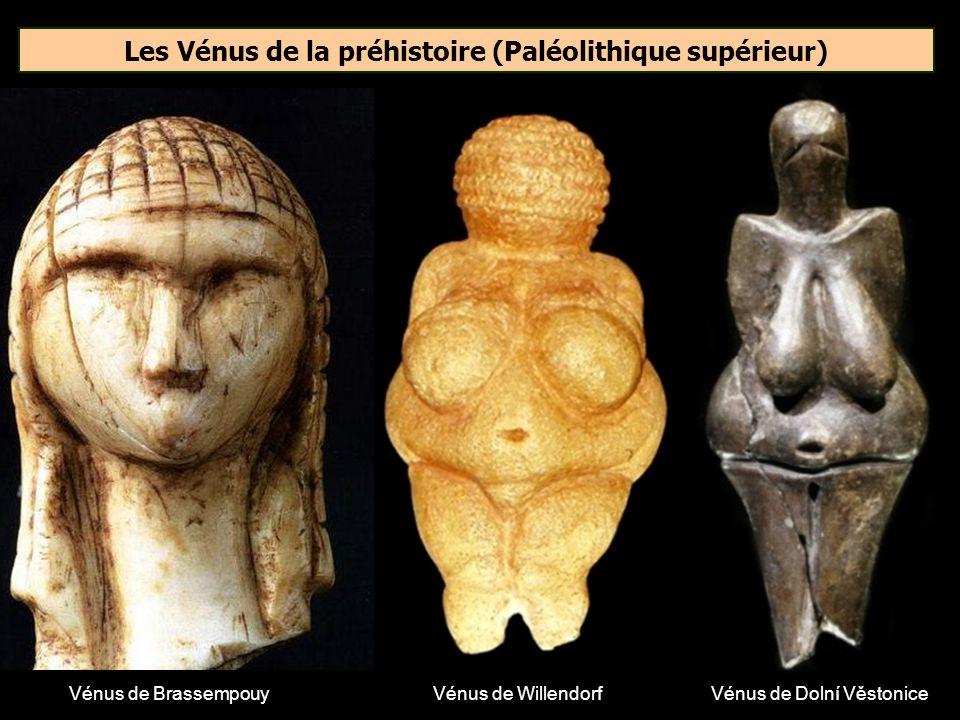 Comment appelle-t-on les statuettes féminines en ivoire ou en pierre tendre, caractéristiques du Paléolithique supérieur ? Madone Pin-up Vénus
