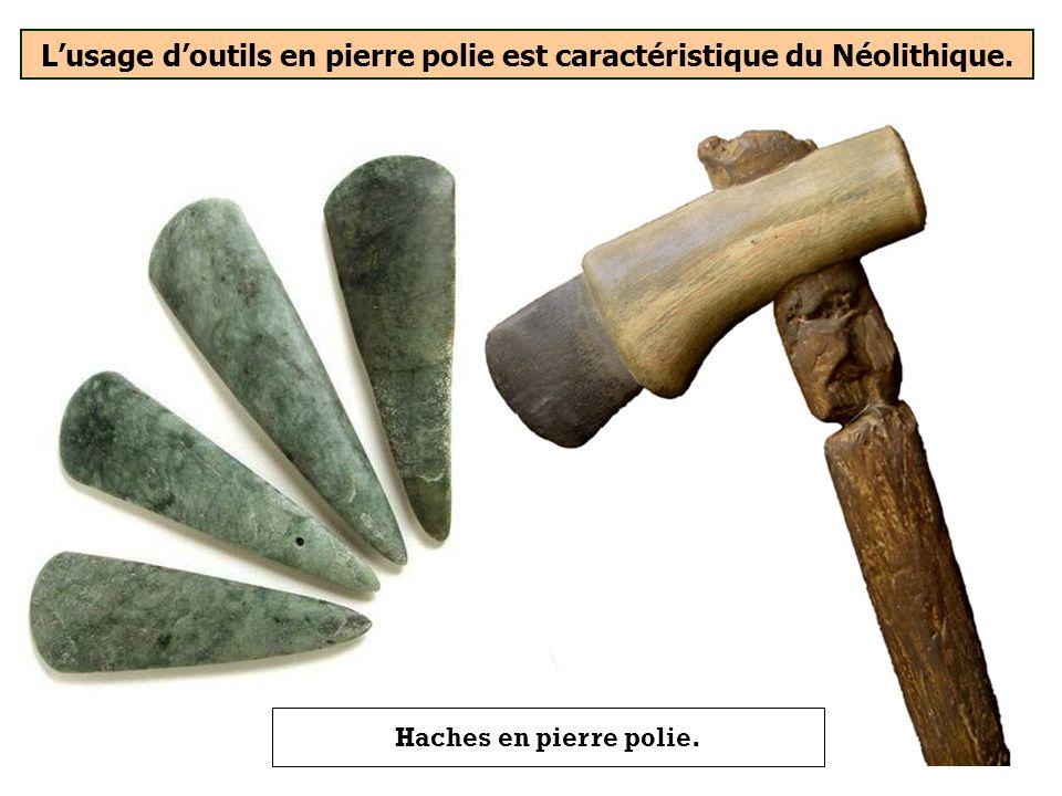 Lusage de quel type doutils est caractéristique du Néolithique ? Pierre poliePierre tailléePierre lavée