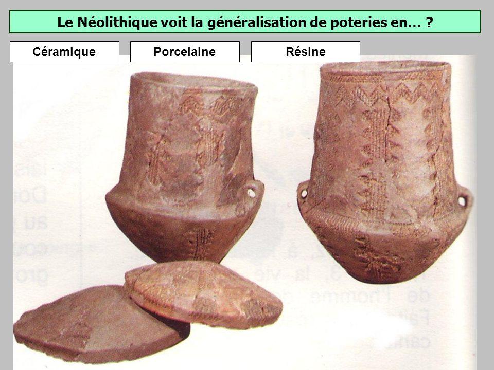 Lusage doutils en pierre polie est caractéristique du Néolithique. Haches en pierre polie.