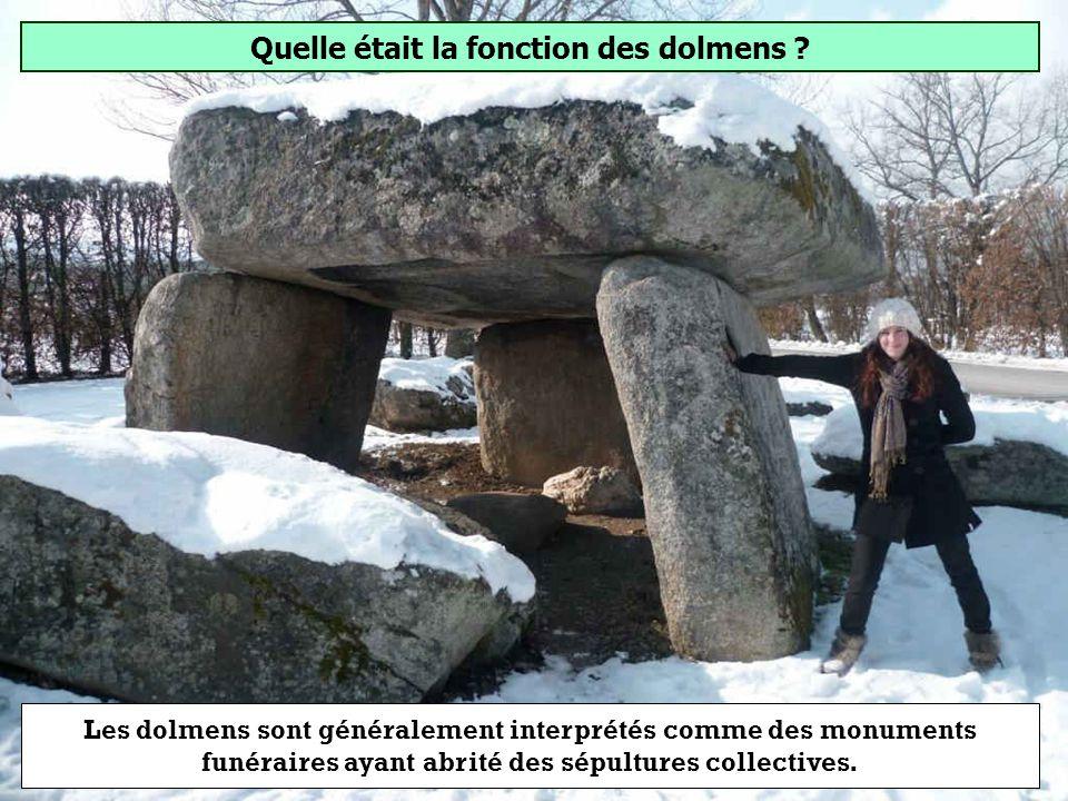 Quelle était la fonction des dolmens ? Sépulture Trophée Habitation