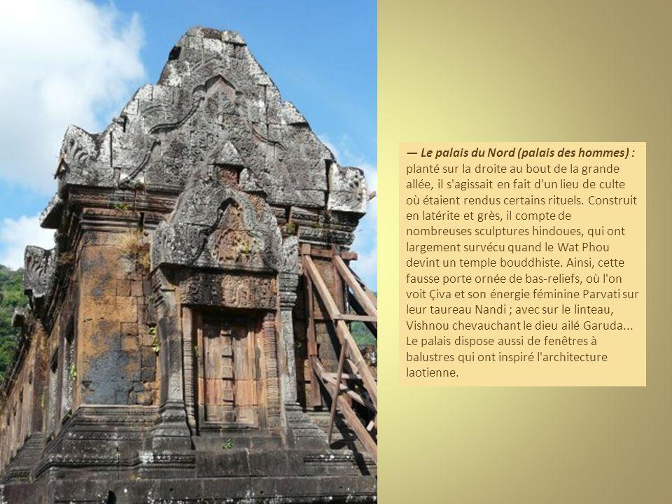 Le palais du Nord (palais des hommes) : planté sur la droite au bout de la grande allée, il s agissait en fait d un lieu de culte où étaient rendus certains rituels.