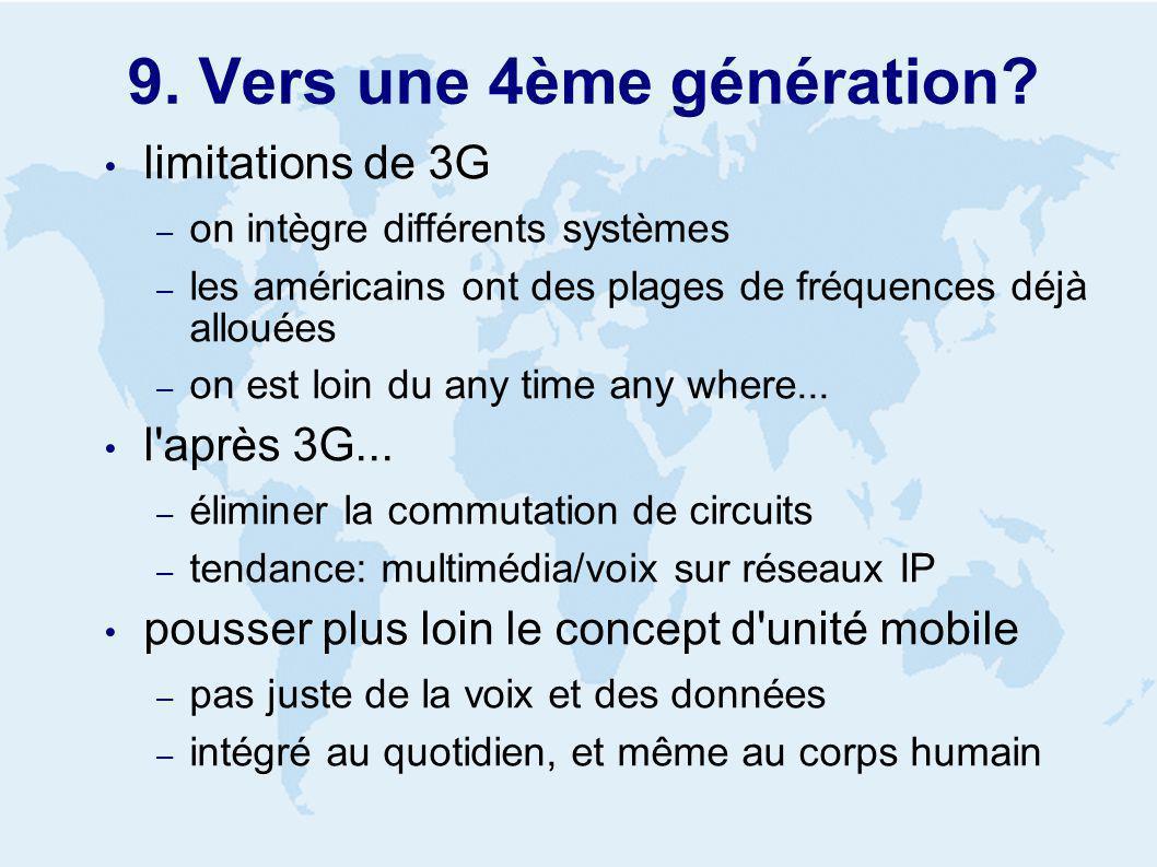 9. Vers une 4ème génération.