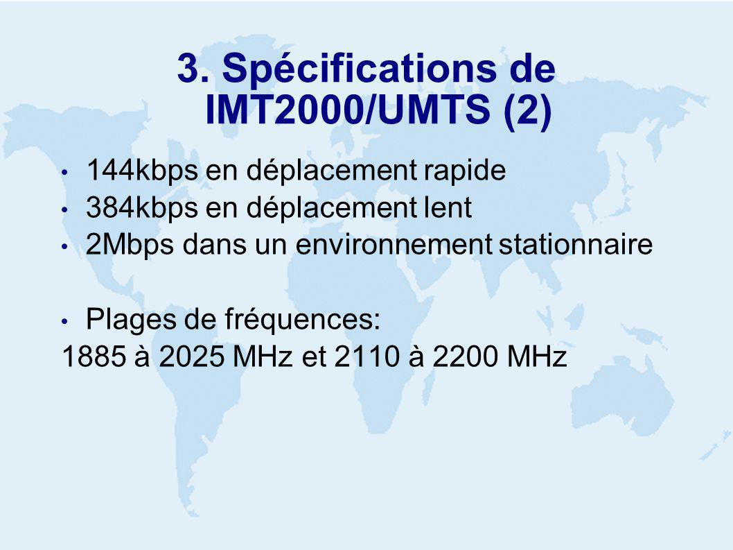 4. Passage de 2G a 3G GSM TDMA CdmaOne GPRS HSCSD EDGE EGPRS IS-95 GSM IS-95B IS-136HS 2G 2.5 G3G