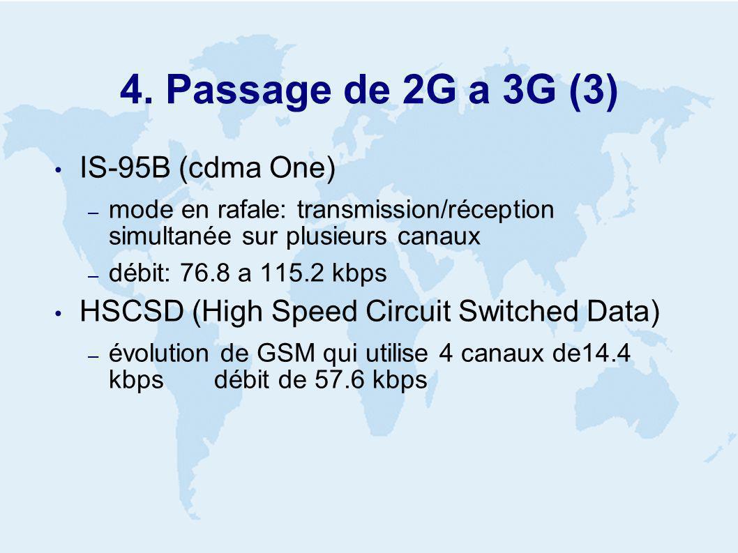 5. Interfaces radio de 3G WCDMA cdma2000 UWC-136 autres interfaces