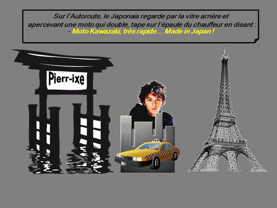 Un touriste Japonais arrive à laéroport Roissy-Charles de Gaulle et prend un taxi pour aller voir la Tour Eiffel.