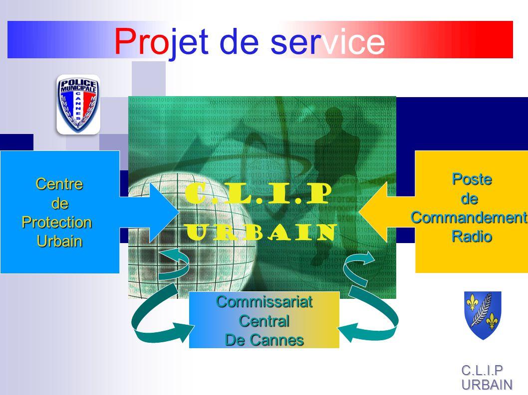 Projet de service C.L.I.P URBAIN Centre deProtectionUrbainPostedeCommandementRadio CommissariatCentral De Cannes C.L.I.PURBAIN