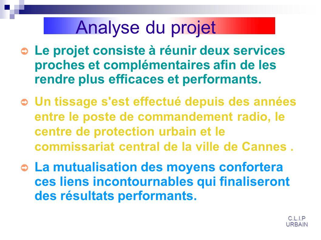 Analyse du projet Un tissage s est effectué depuis des années entre le poste de commandement radio, le centre de protection urbain et le commissariat central de la ville de Cannes.