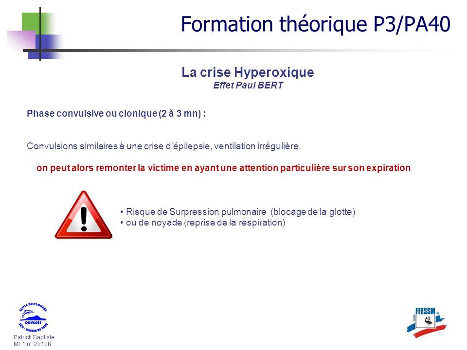 Patrick Baptiste MF1 n° 22108 Phase convulsive ou clonique (2 à 3 mn) : Convulsions similaires à une crise dépilepsie, ventilation irrégulière. on peu