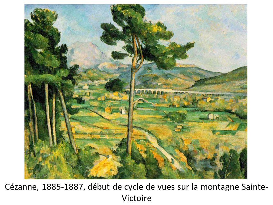 Cézanne, 1885-1887, début de cycle de vues sur la montagne Sainte- Victoire