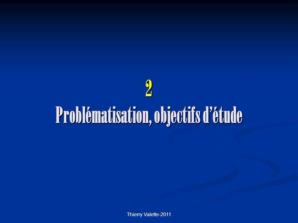 Thierry Valette-2011 2 Problématisation, objectifs détude