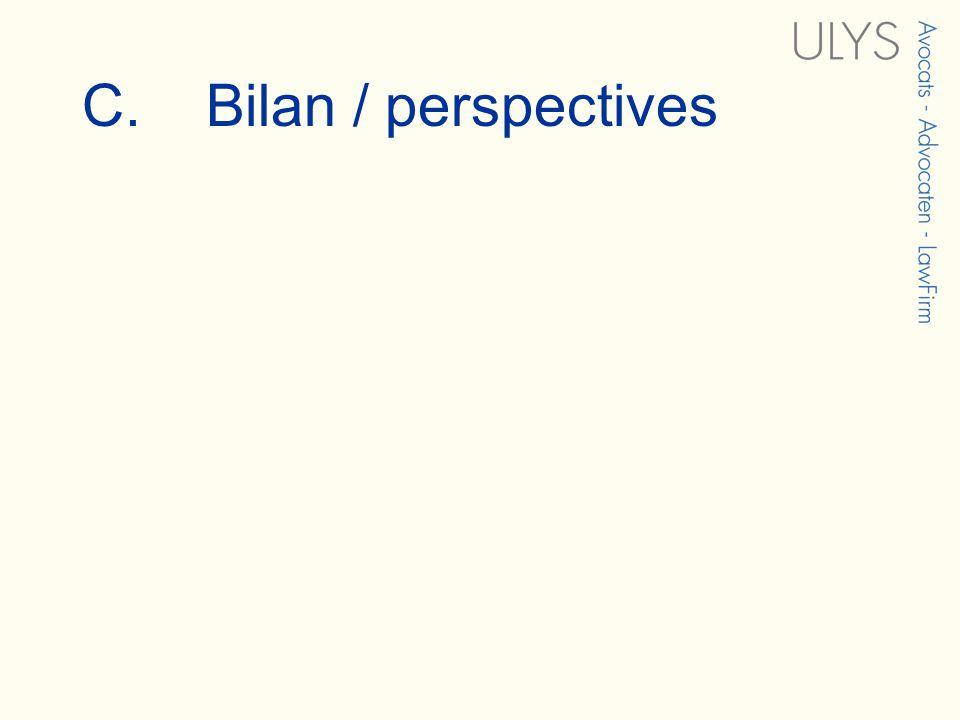 C. Bilan / perspectives