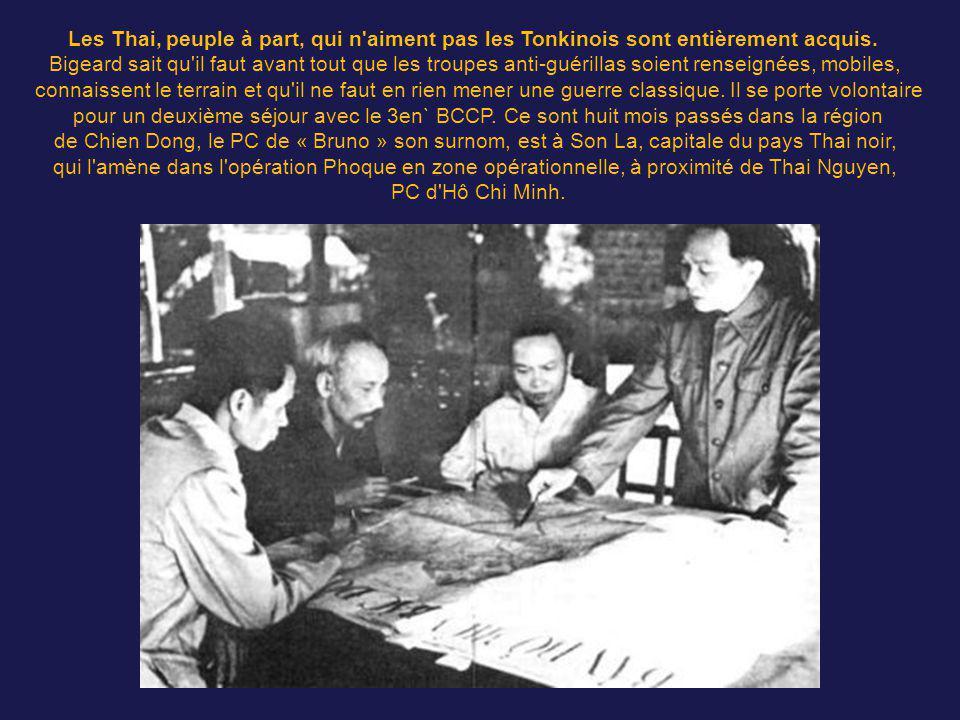 Le 31 décembre 1953, il prend le commandement du GAP n°416, constitué du II/1er RCP et du 6e BPC, et intervient au moyen Laos entre Thakhek et Savanna