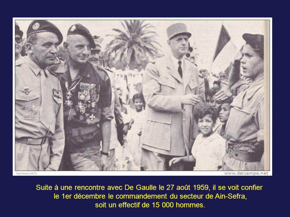 Le régiment est rappelé en juillet 1957 à Alger à la reprise des attentats. La capture de Hassène Guandriche dit Zerrouk, adjoint chef de la région II