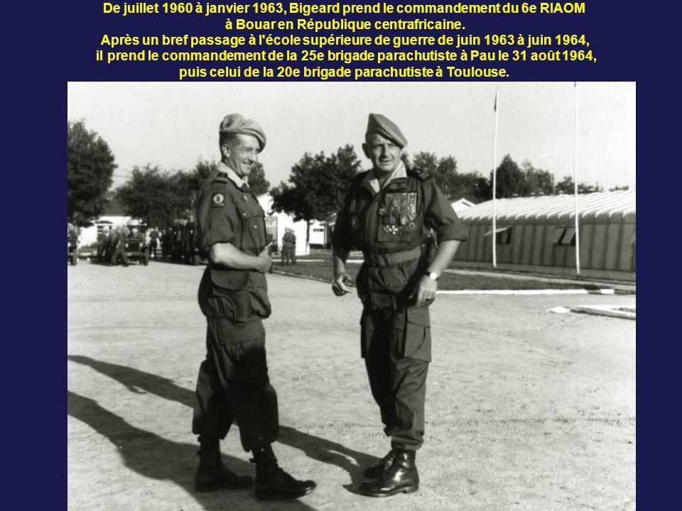 Suite à une rencontre avec De Gaulle le 27 août 1959, il se voit confier le 1er décembre le commandement du secteur de Ain-Sefra, soit un effectif de