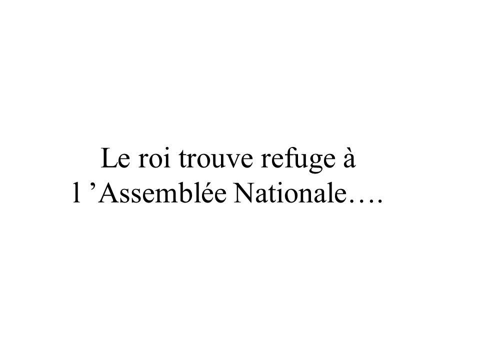 Le roi trouve refuge à l Assemblée Nationale….