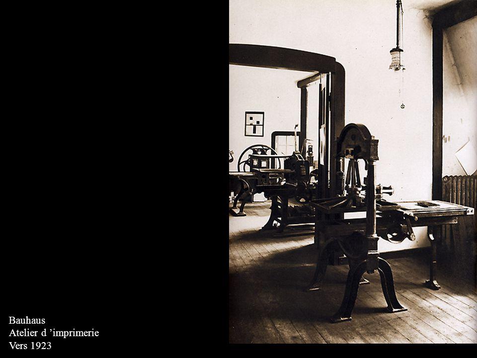 Bauhaus Atelier d imprimerie Vers 1923
