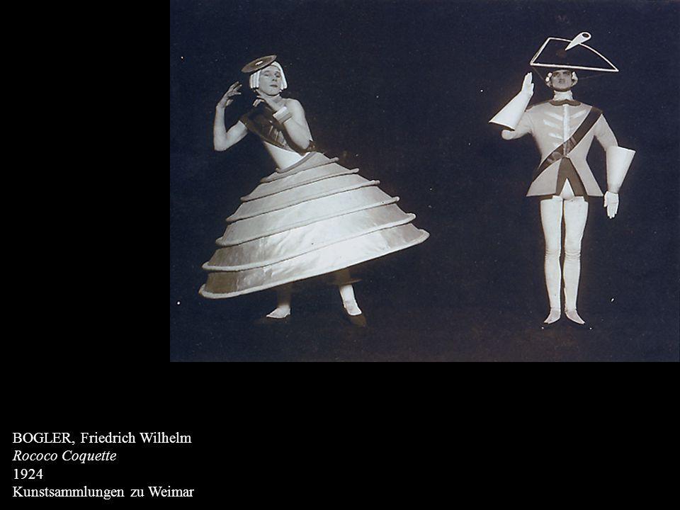 BOGLER, Friedrich Wilhelm Rococo Coquette 1924 Kunstsammlungen zu Weimar