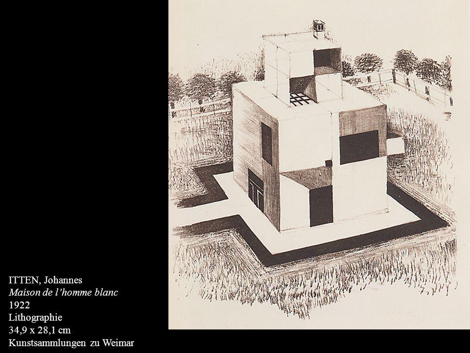 ITTEN, Johannes Maison de lhomme blanc 1922 Lithographie 34,9 x 28,1 cm Kunstsammlungen zu Weimar