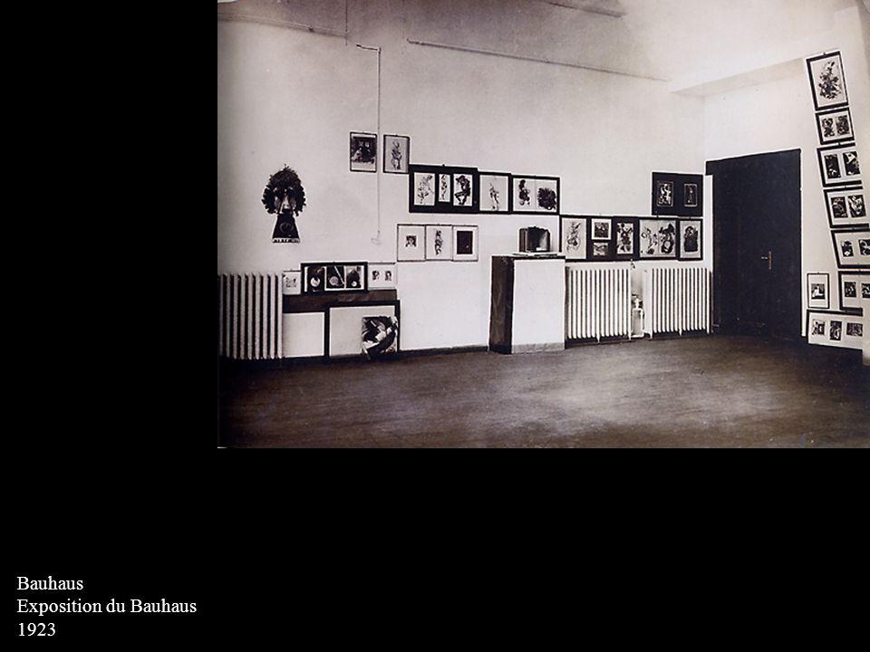 SCHMIDT, Kurt Carte postales : exposition du Bauhaus 1923 lithographie