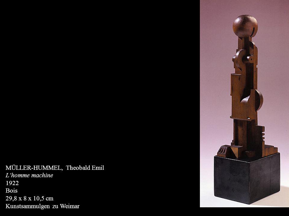 MÜLLER-HUMMEL, Theobald Emil Lhomme machine 1922 Bois 29,8 x 8 x 10,5 cm Kunstsammulgen zu Weimar