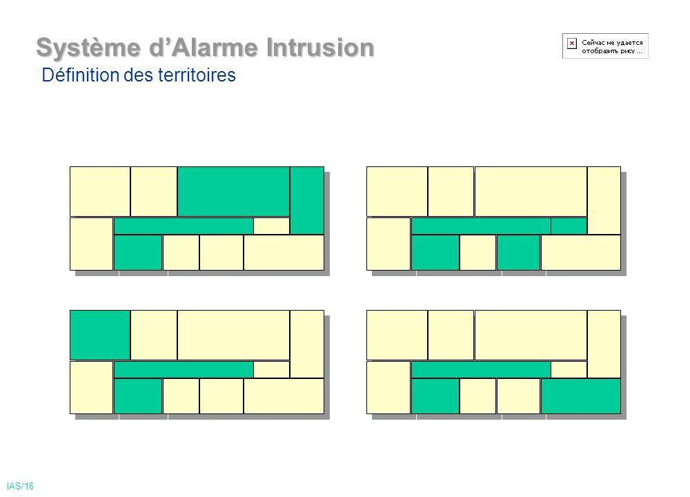Système dAlarme Intrusion Définition des territoires IAS/16