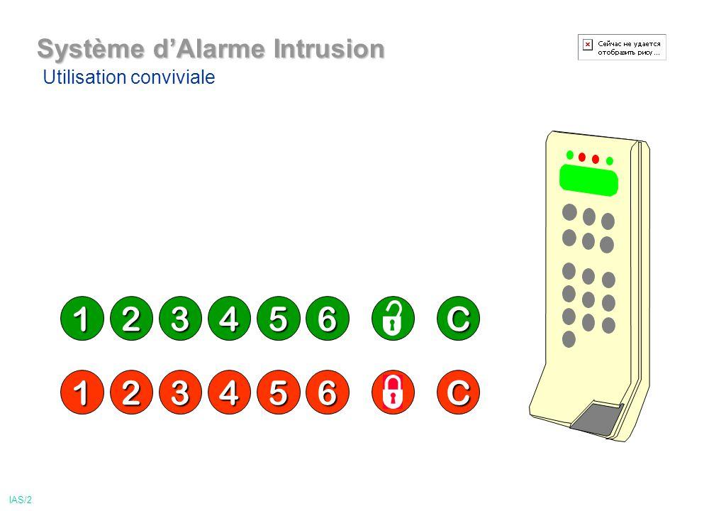 Système dAlarme Intrusion 123456C 123456C Utilisation conviviale IAS/2