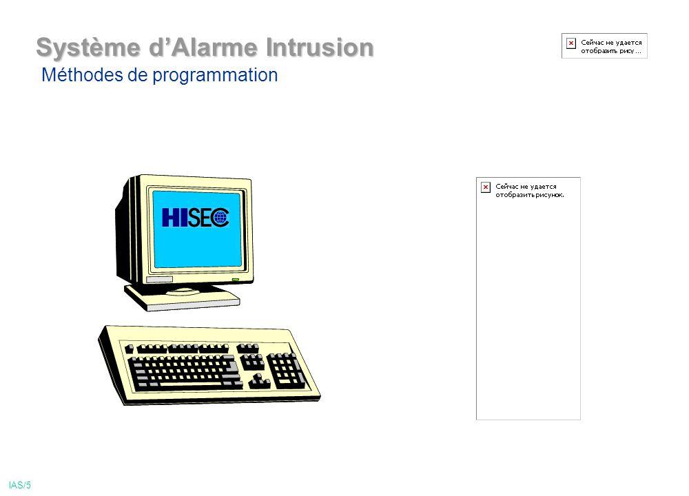 Système dAlarme Intrusion Méthodes de programmation IAS/5
