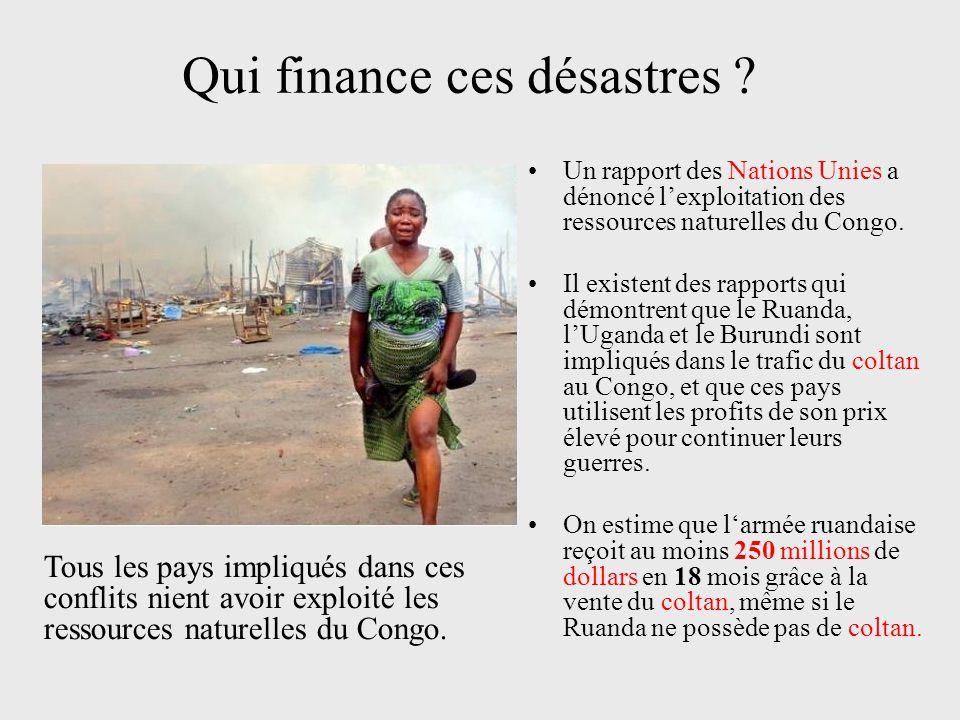 Conséquences sur le territoire Pour extraire le coltan du Congo les Parcs nationaux ont été envahis.
