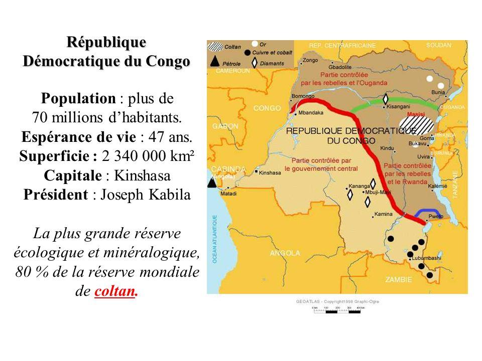 Où se trouve la République Démocratique du Congo .