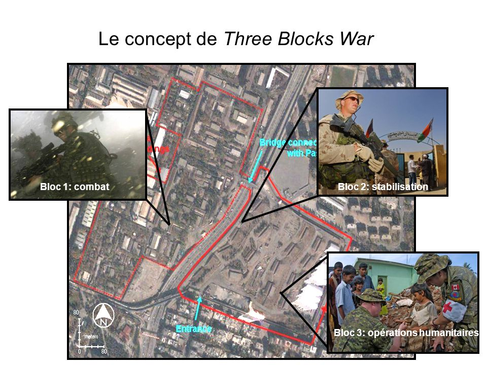 Three Block War Bloc 1: combatBloc 2: stabilisation Bloc 3: opérations humanitaires Le concept de Three Blocks War