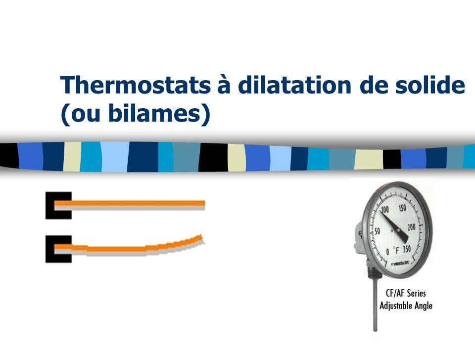 Thermostats à dilatation de solide (ou bilames)