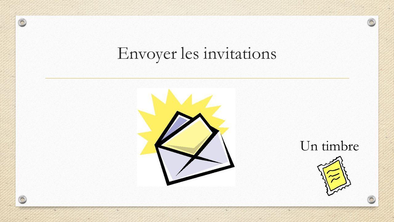Envoyer les invitations Un timbre