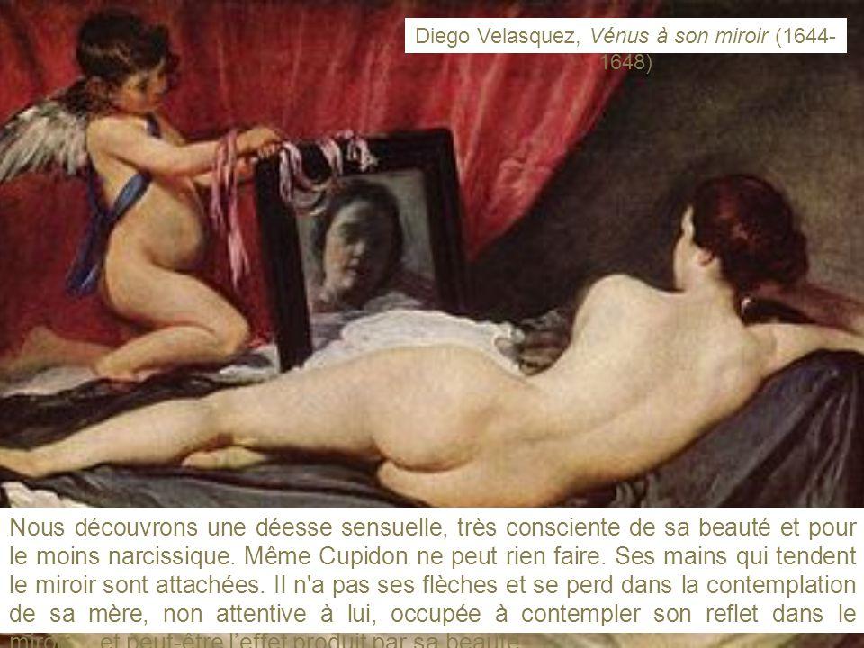 Nous découvrons une déesse sensuelle, très consciente de sa beauté et pour le moins narcissique.