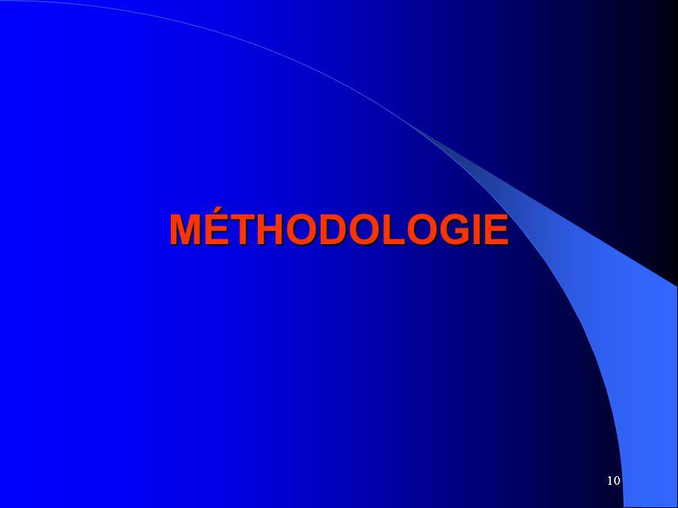 10 MÉTHODOLOGIE
