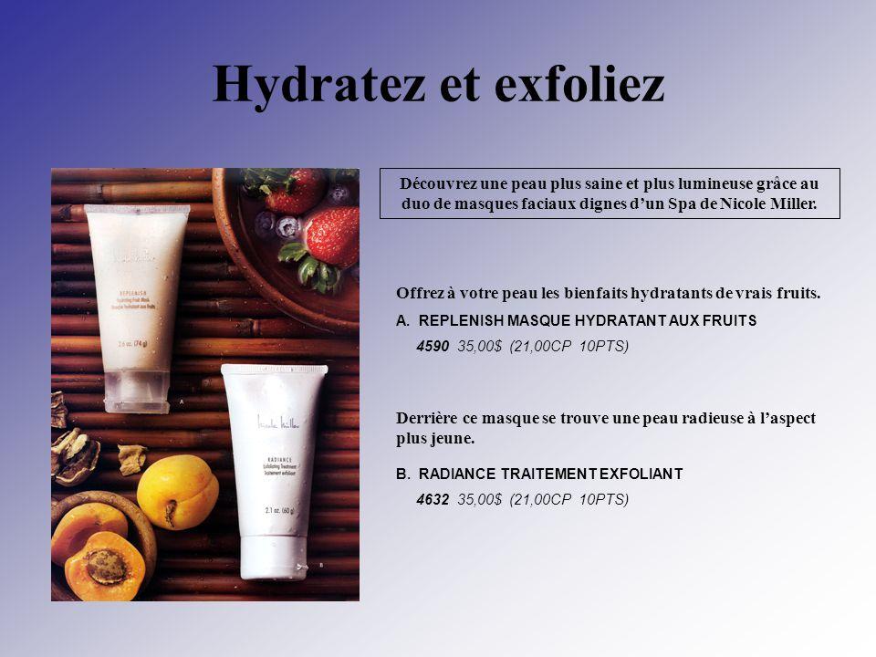 Hydratez et exfoliez Découvrez une peau plus saine et plus lumineuse grâce au duo de masques faciaux dignes dun Spa de Nicole Miller. Offrez à votre p