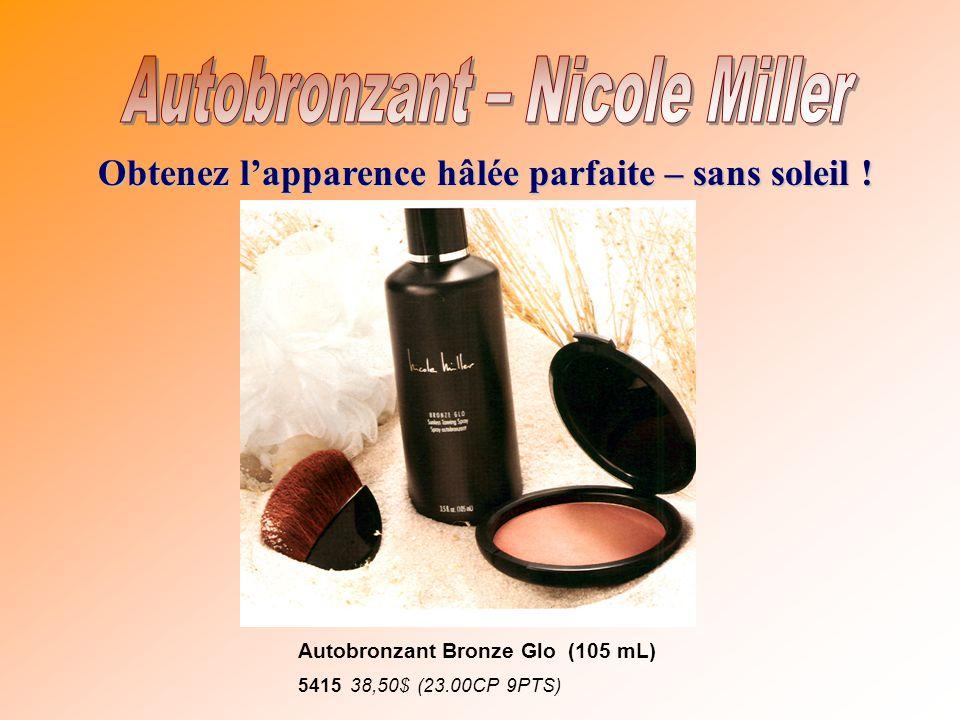 Obtenez lapparence hâlée parfaite – sans soleil ! Autobronzant Bronze Glo (105 mL) 5415 38,50$ (23.00CP 9PTS)
