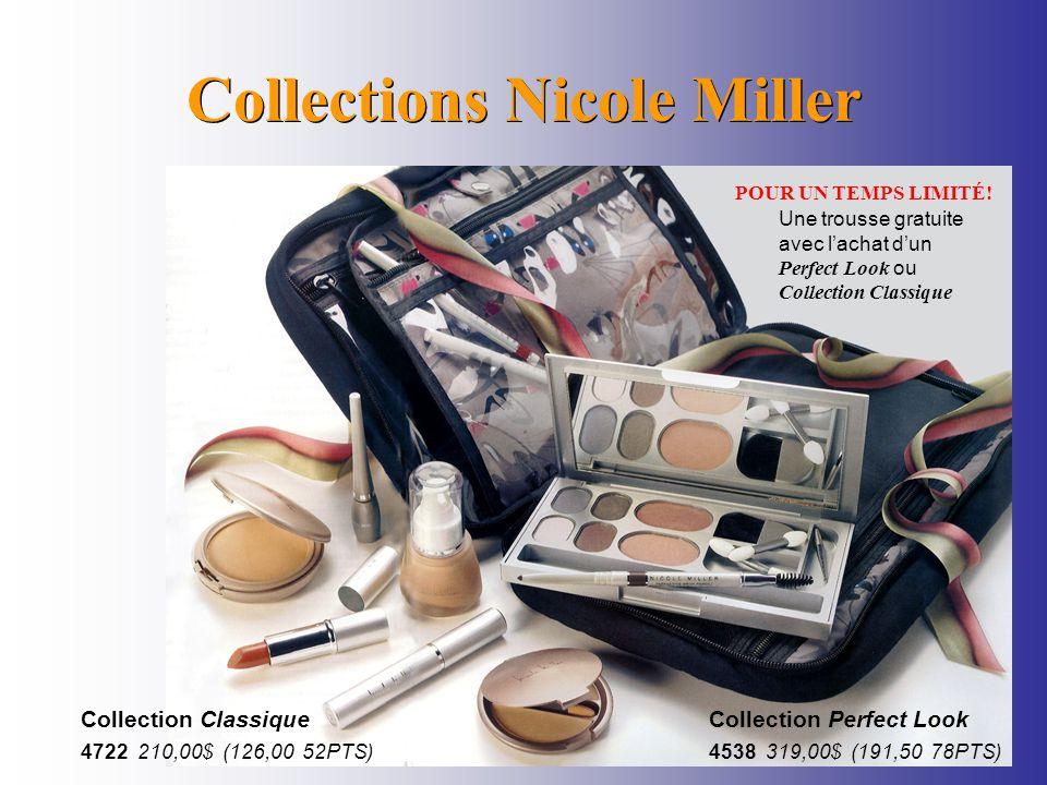 Collections Nicole Miller POUR UN TEMPS LIMITÉ! Une trousse gratuite avec lachat dun Perfect Look ou Collection Classique Collection Perfect Look 4538