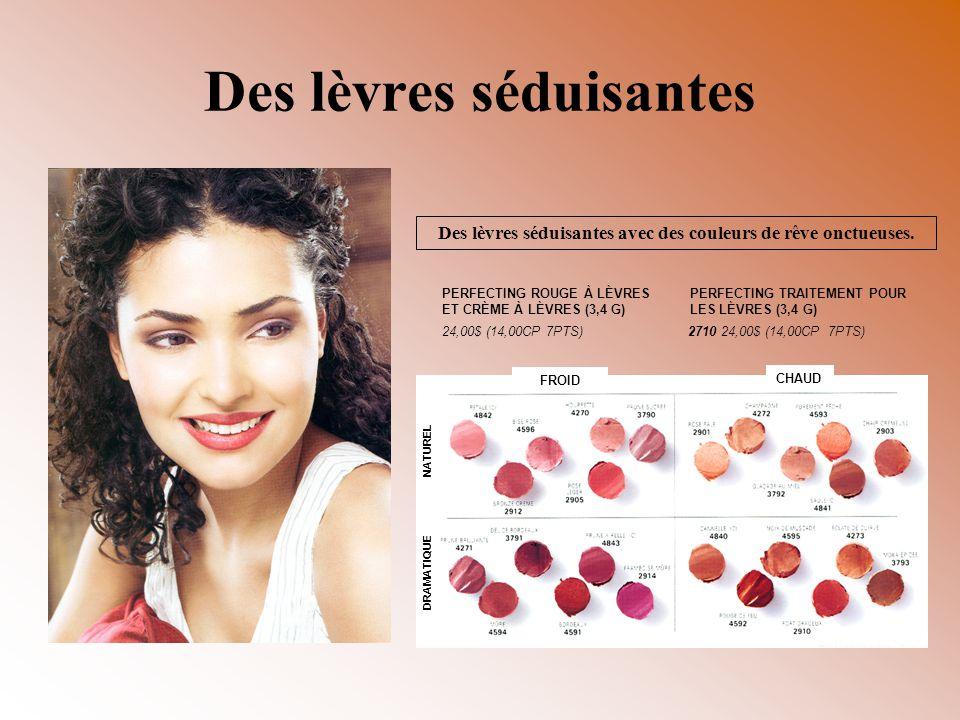 Des lèvres séduisantes Des lèvres séduisantes avec des couleurs de rêve onctueuses. PERFECTING ROUGE À LÈVRES ET CRÈME À LÈVRES (3,4 G) 24,00$ (14,00C
