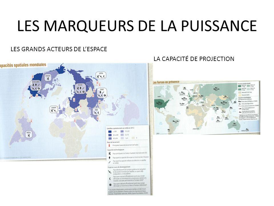 LES MARQUEURS DE LA PUISSANCE LES GRANDS ACTEURS DE LESPACE LA CAPACITÉ DE PROJECTION