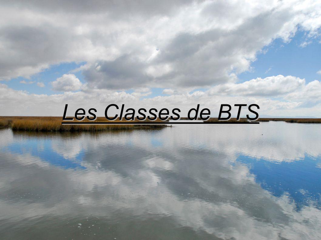 Les Classes de BTS