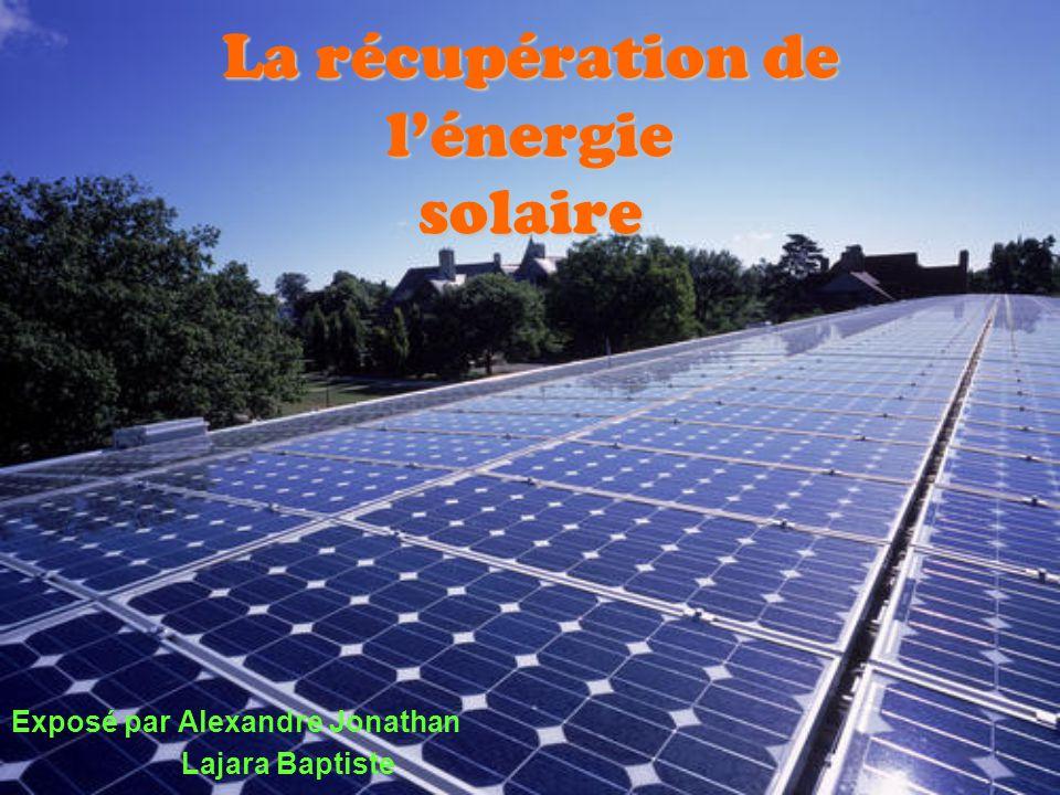 Sommaire I.Introduction 1.1 Lénergie solaire,quest ce que cest.
