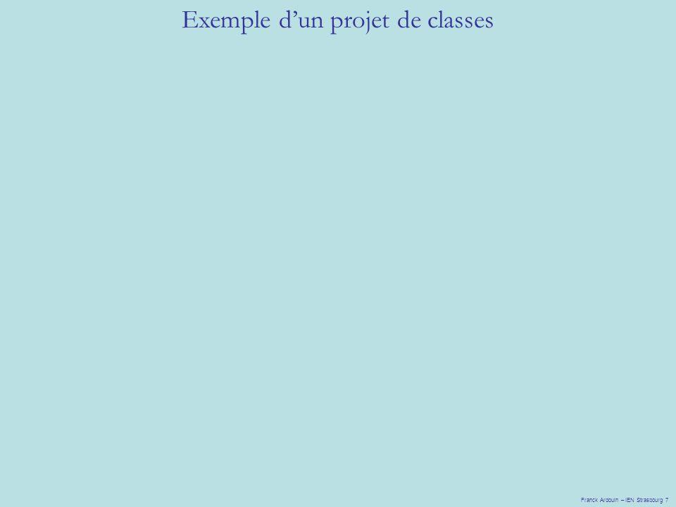 Exemple dun projet de classes