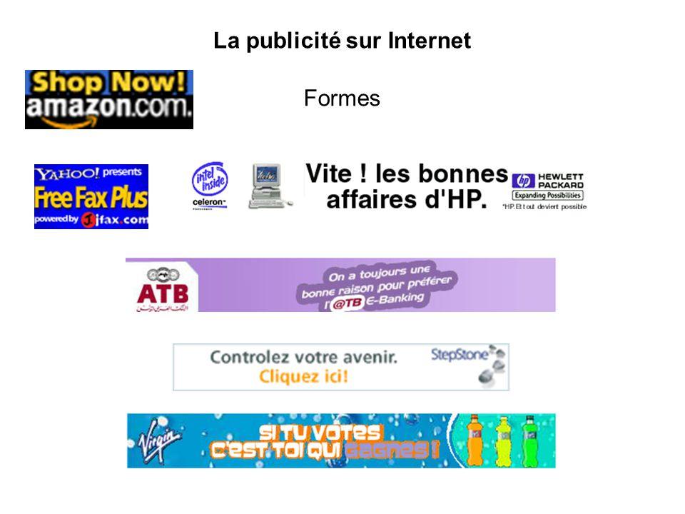 La publicité sur Internet Formes