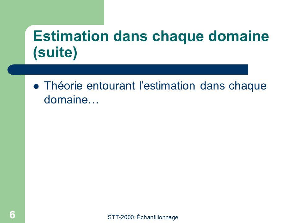 STT-2000; Échantillonnage 7 Problème des grandes unités (Satin et Shastry, p.