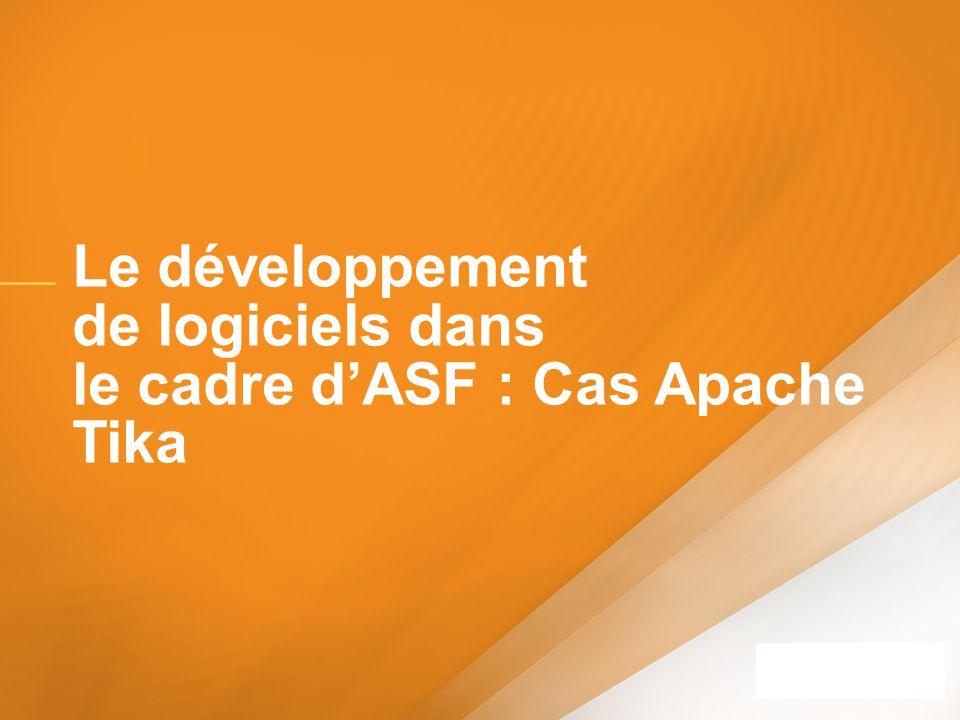 Le développement de logiciels dans le cadre dASF : Cas Apache Tika