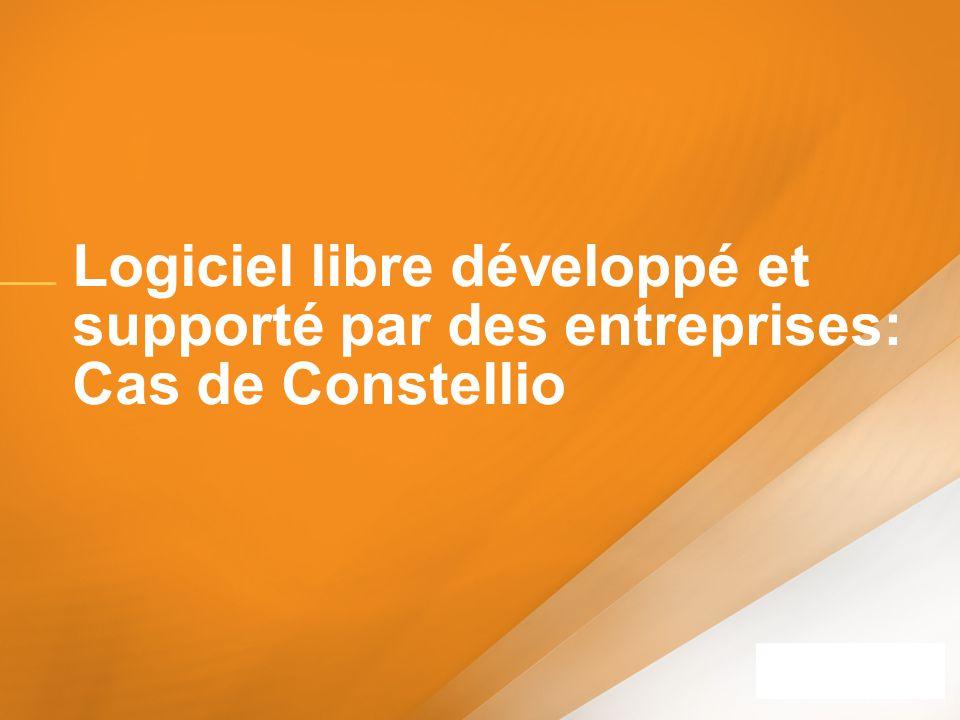 Logiciel libre développé et supporté par des entreprises: Cas de Constellio