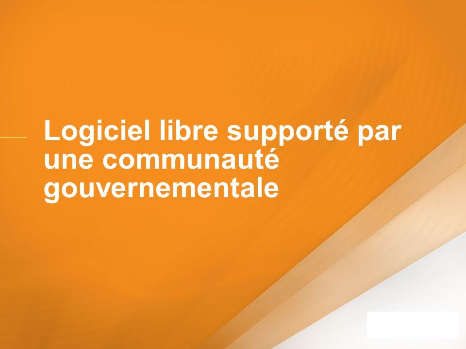 Logiciel libre supporté par une communauté gouvernementale
