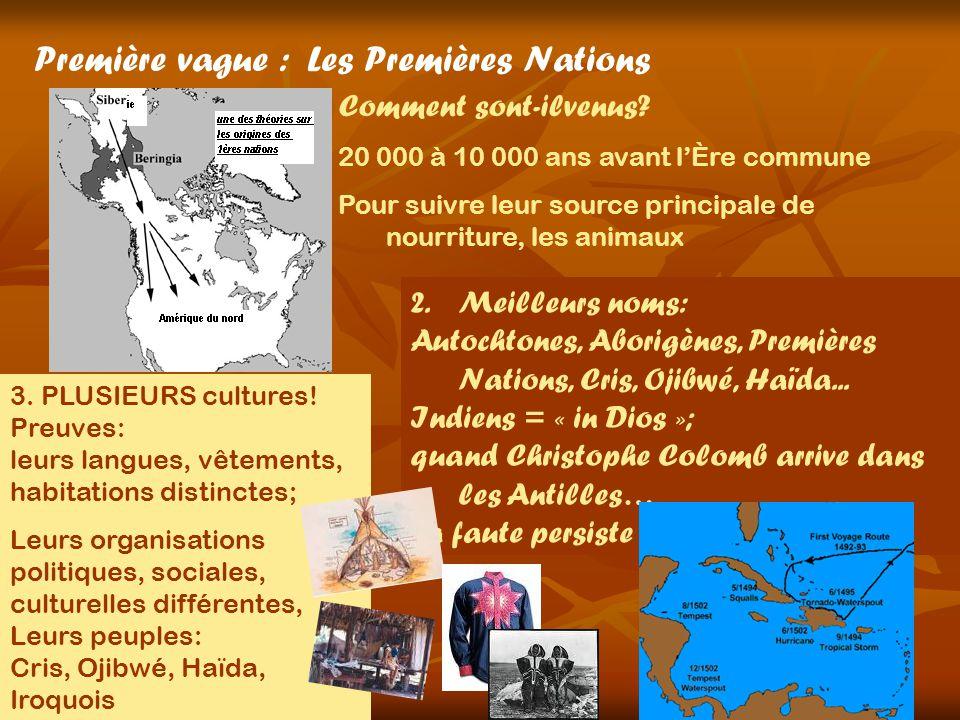 Première vague : Les Premières Nations Comment sont-ilvenus.