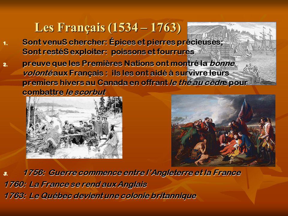 Les Français (1534 – 1763) 1.